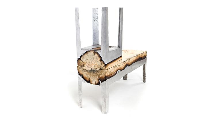 Табурет и скамья из дерева
