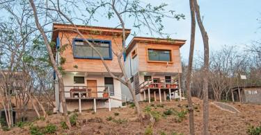 Маленькие домики в тропическом стиле