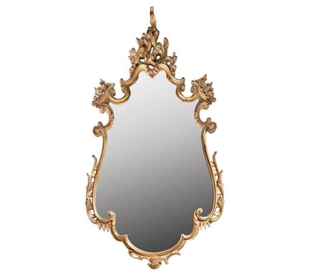 Зеркало Corfu с деревянным обрамлением