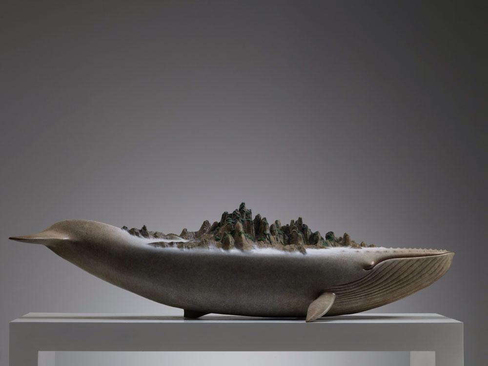 Необычное скульптура рыбы