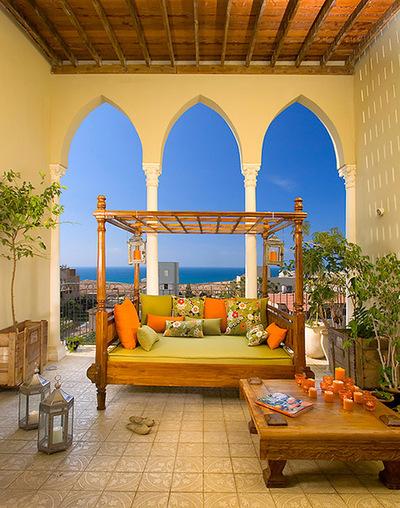 Оформление террасы в марокканском стиле