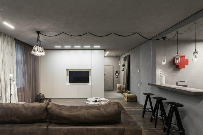 Бетоный потолок в квартире