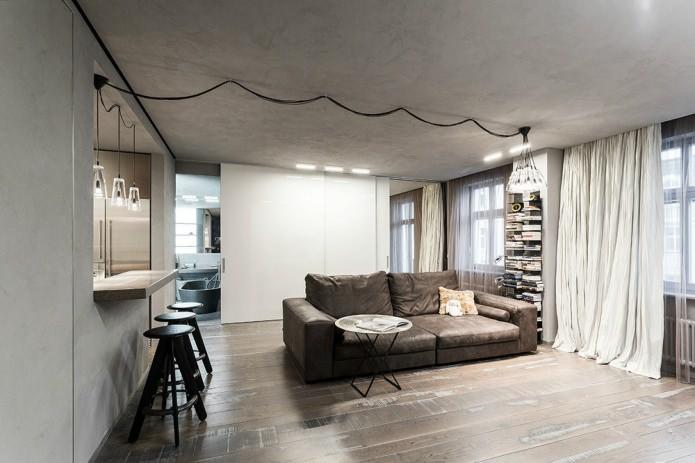 Бетонные стены в квартире