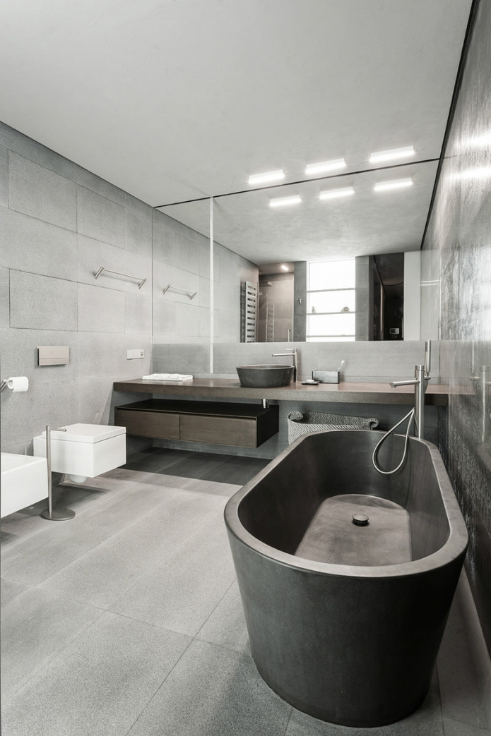 Бетонная ванна в квартире