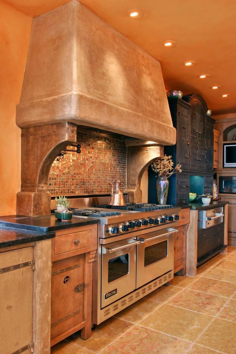 Бетонная кухня в юго-западном стиле
