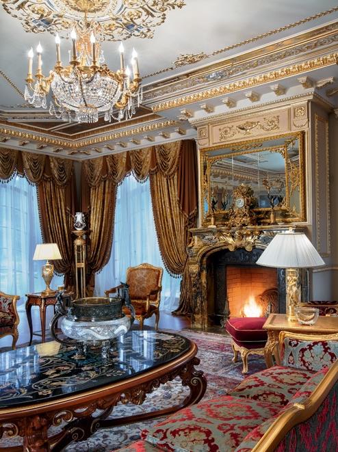 Великолепное оформление дворца в Подмосковье