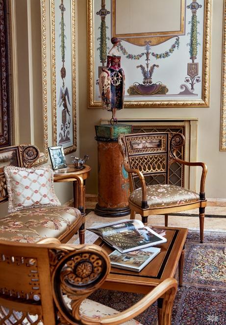 Роскошное оформление дворца в Подмосковье