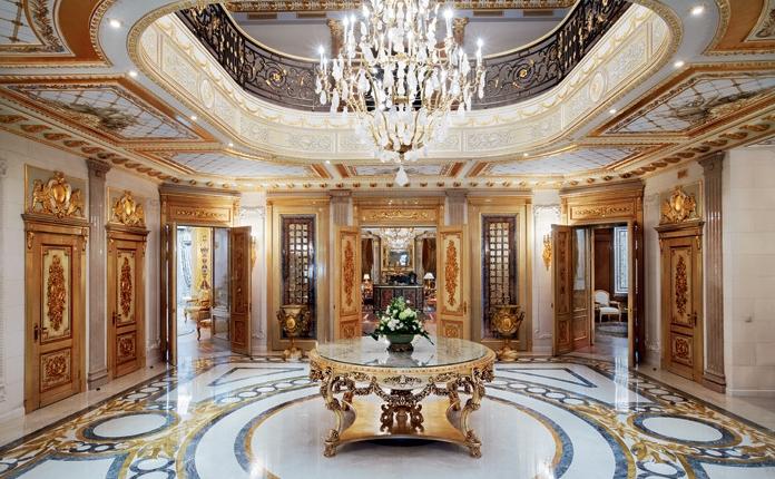 Чудесное оформление дворца в Подмосковье