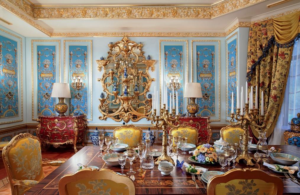 Оригинальное оформление дворца в Подмосковье