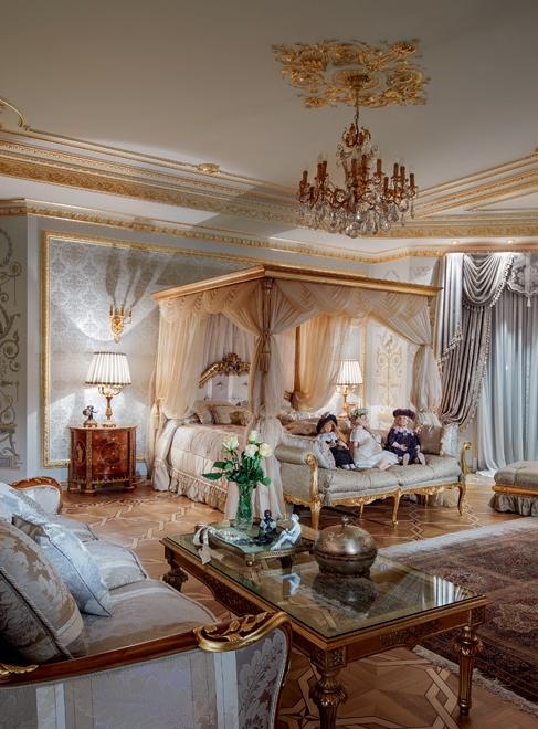 Шикарное оформление дворца в Подмосковье