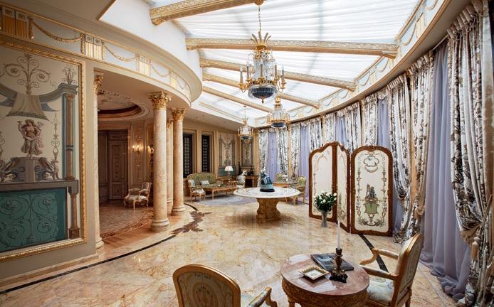 Очаровательное оформление дворца в Подмосковье