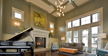 Античная эстетика кессонного потолка в современных интерьерах