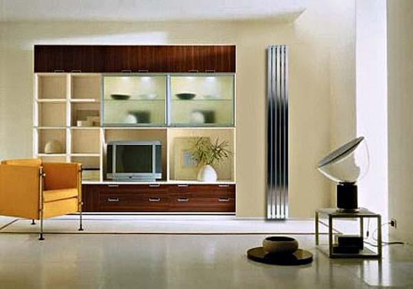 Original heating radiators in the style of the interior