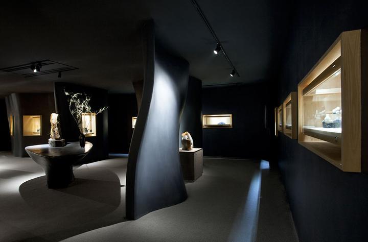 Оригинальное оформление интерьера музея нефрита Jade в Шанхае