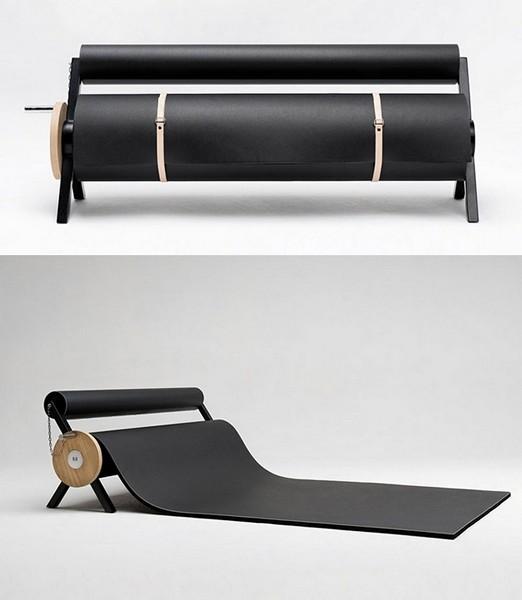 Сногсшибательный диван-валик в раскрученном состоянии