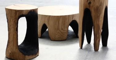 Креативный деревянный табурет и столик от Каспар Хамашер