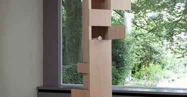 Деревянный шкаф в интерьере