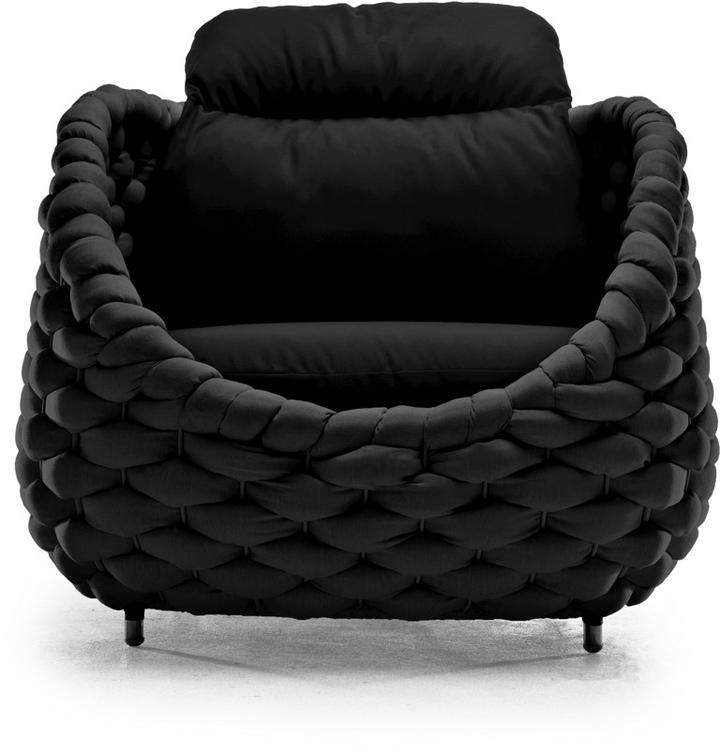 Черное кресло Рапунцель от Kenneth Cobonpue
