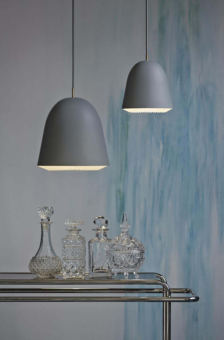 Светильники из алюминия в сером цвете