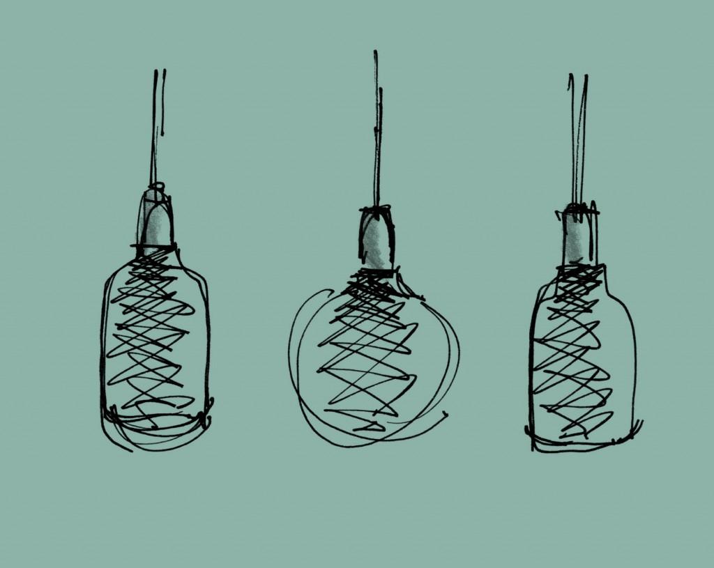 Рисунок ламп Afillia от Alessandro Zambelli
