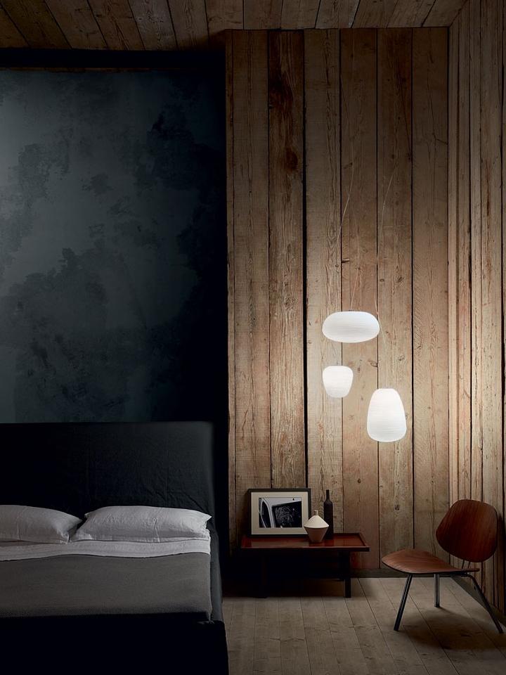 Оригинальный дизайн подвесных светильников Light Portraits в интерьере спальни