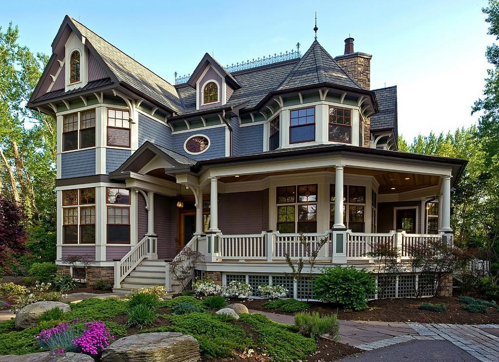 Американский дом в виктрианском стиле