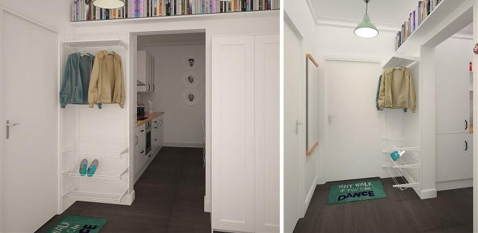 Белый коридор и прихожая
