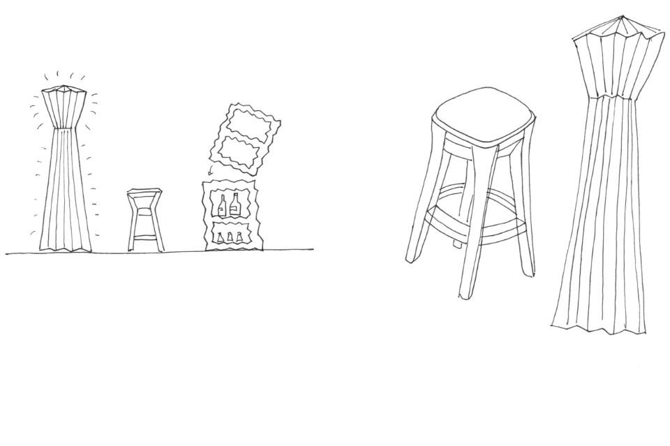 Дизайнер Маттео Рагни: эскизы работ на бумаге
