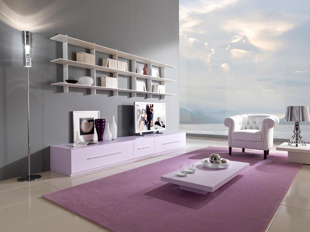 Ковер розовато-лилового цвета