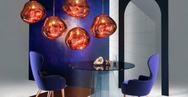 Дизайн подвесных светильников в форме капель застывшего стекла