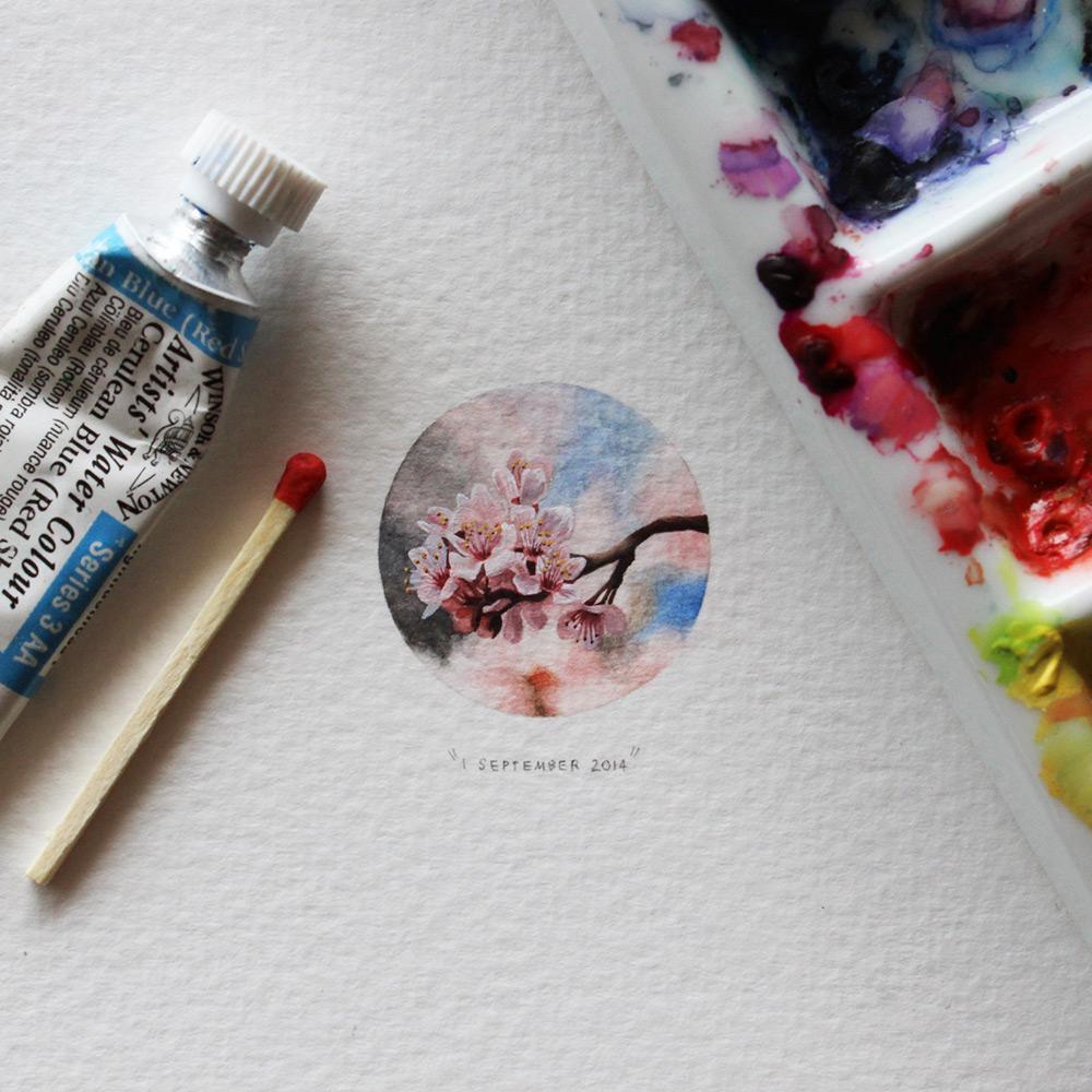 Живописный рисунок в миниатюре