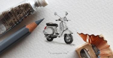 365-дневный проект миниатюрной живописи от художника Lorraine Loots