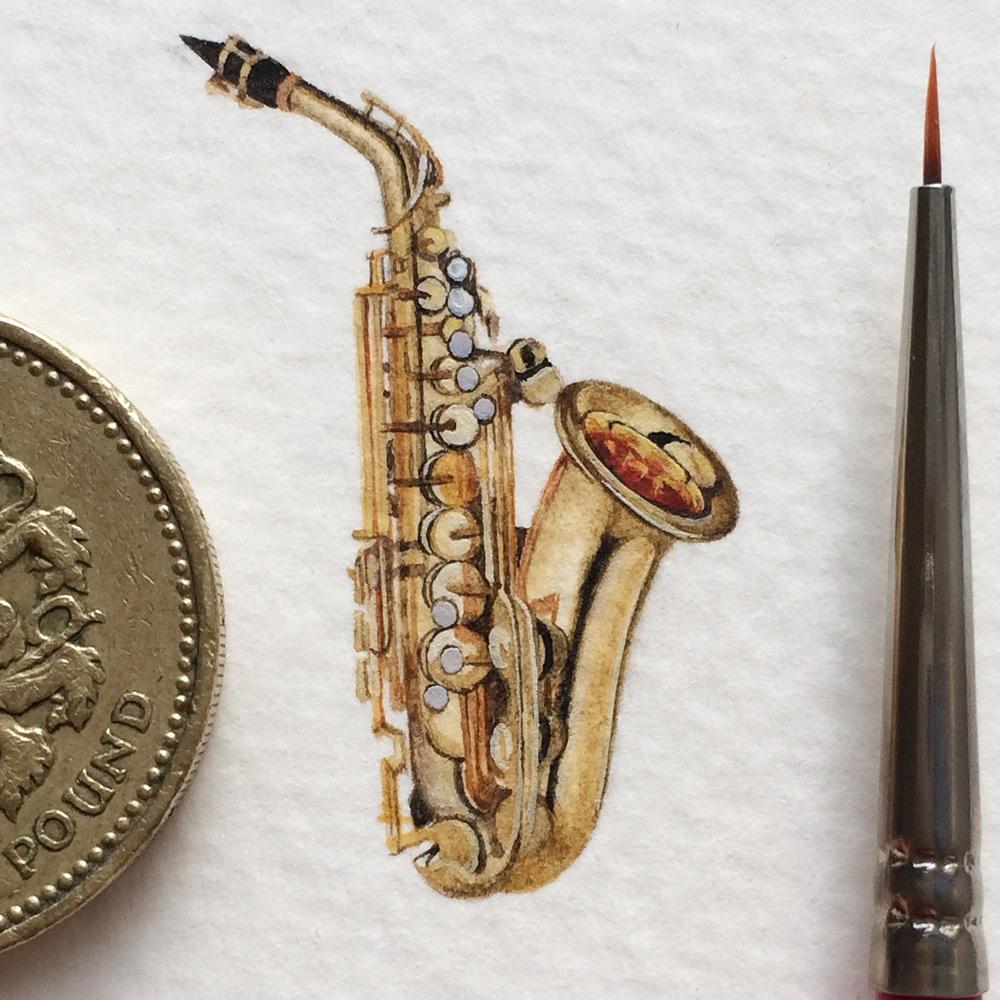 Миниатюрный рисунок музыкального инструмента