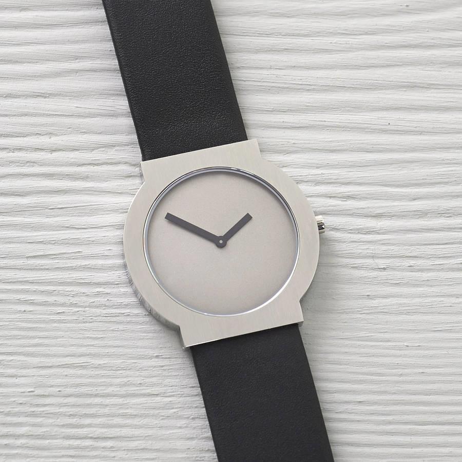 Женские часы Minimalist Analog с черным ремешком