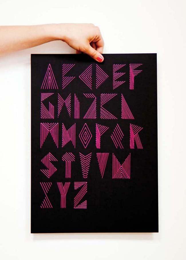 Алфавит в виде картины от Plenty of Colour