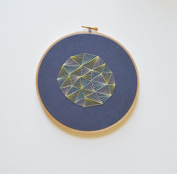 Геометрическая вышивка от Sarah K. Benning