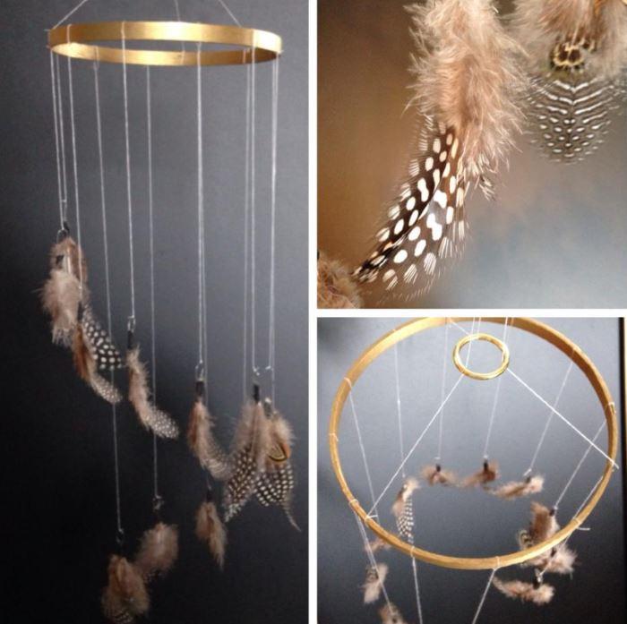 Подвесной предмет декора из перьев
