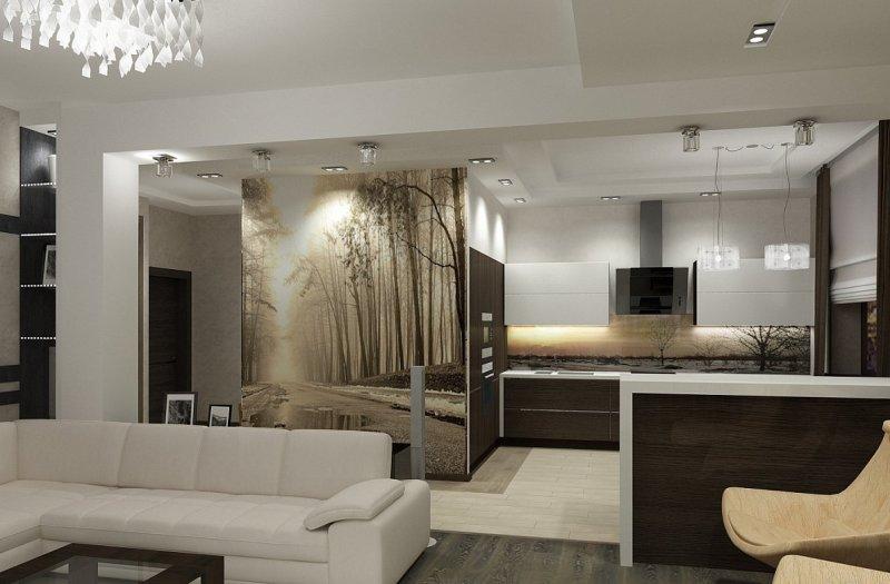 Гостиная в стиле модернизм