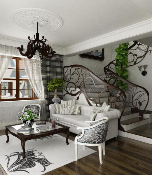 Белоснежная гостиная в стиле модернизм