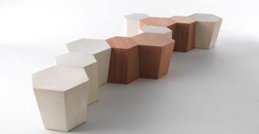 Многогранный и мультифункциональный дизайн скамьи Hexagon
