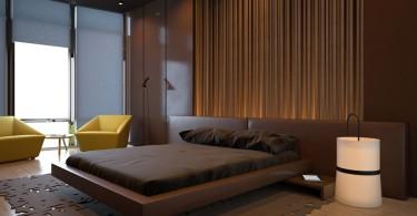 Интерьер спальни в шоколадном цвете