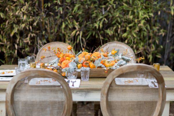 Сервировка стола ко дню Благодарения