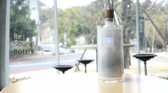 Необычная бутылка с возможностью сохранения музыки внутри
