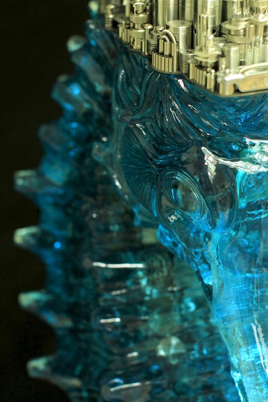 Прекрасная металлическая скульптура от Ху Шаоминга