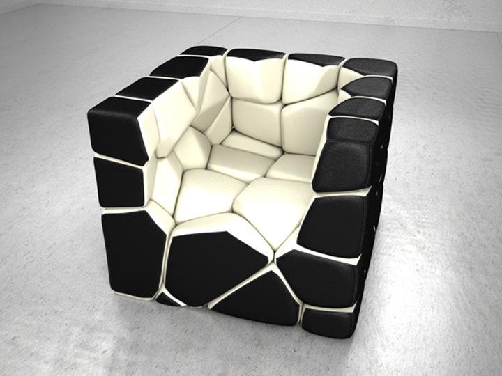 Необычное трансформируемое кресло Vuzzle от Christopher Daniel