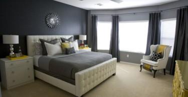 Красивый цвет в интерьере спальной комнаты