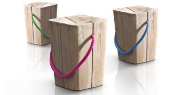 Креативные деревянные стулья Hug Wooden от Emo Desig