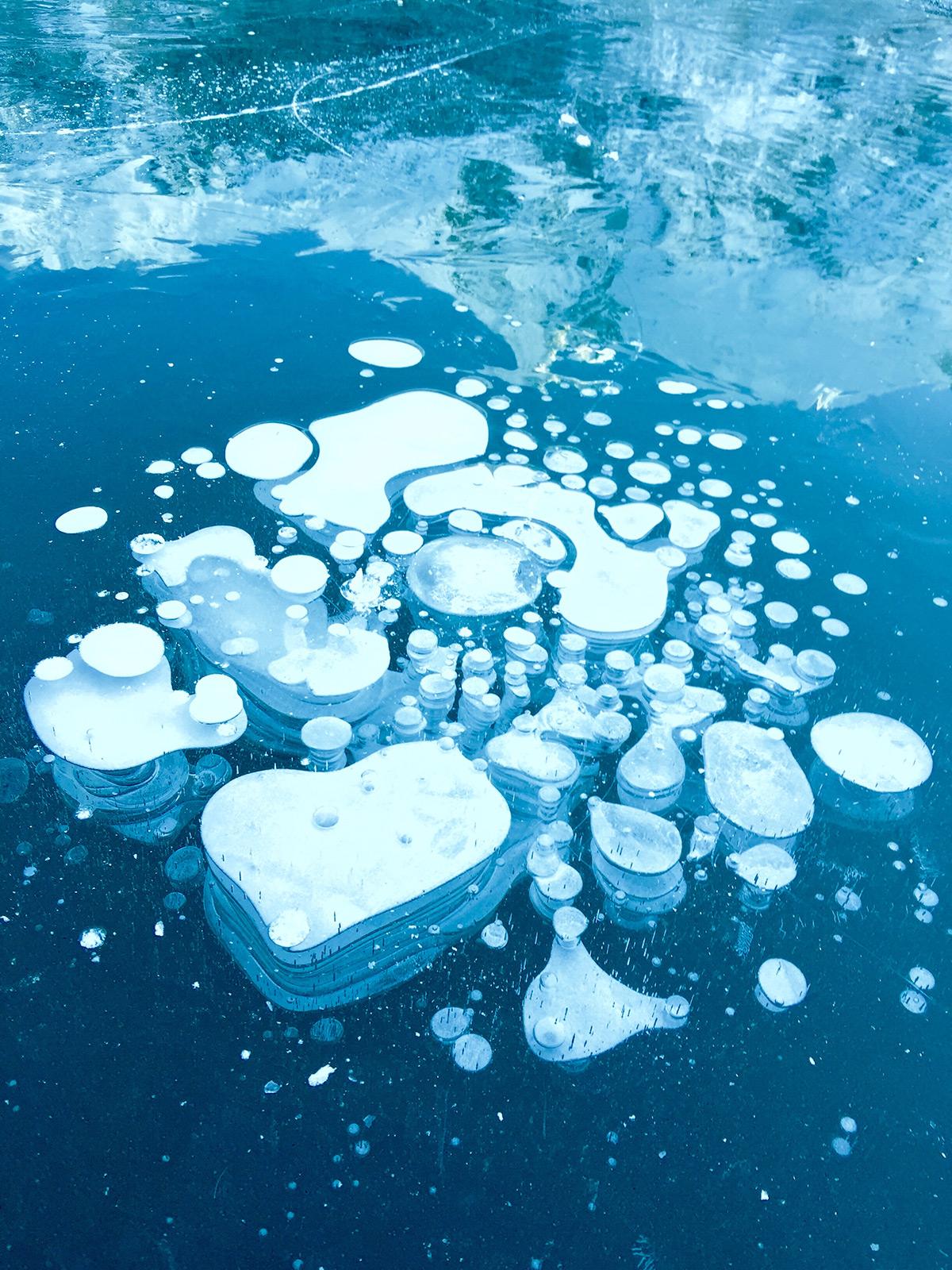Снимок льда на Iphone