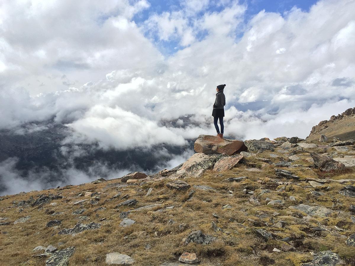 Снимок горы на Iphone