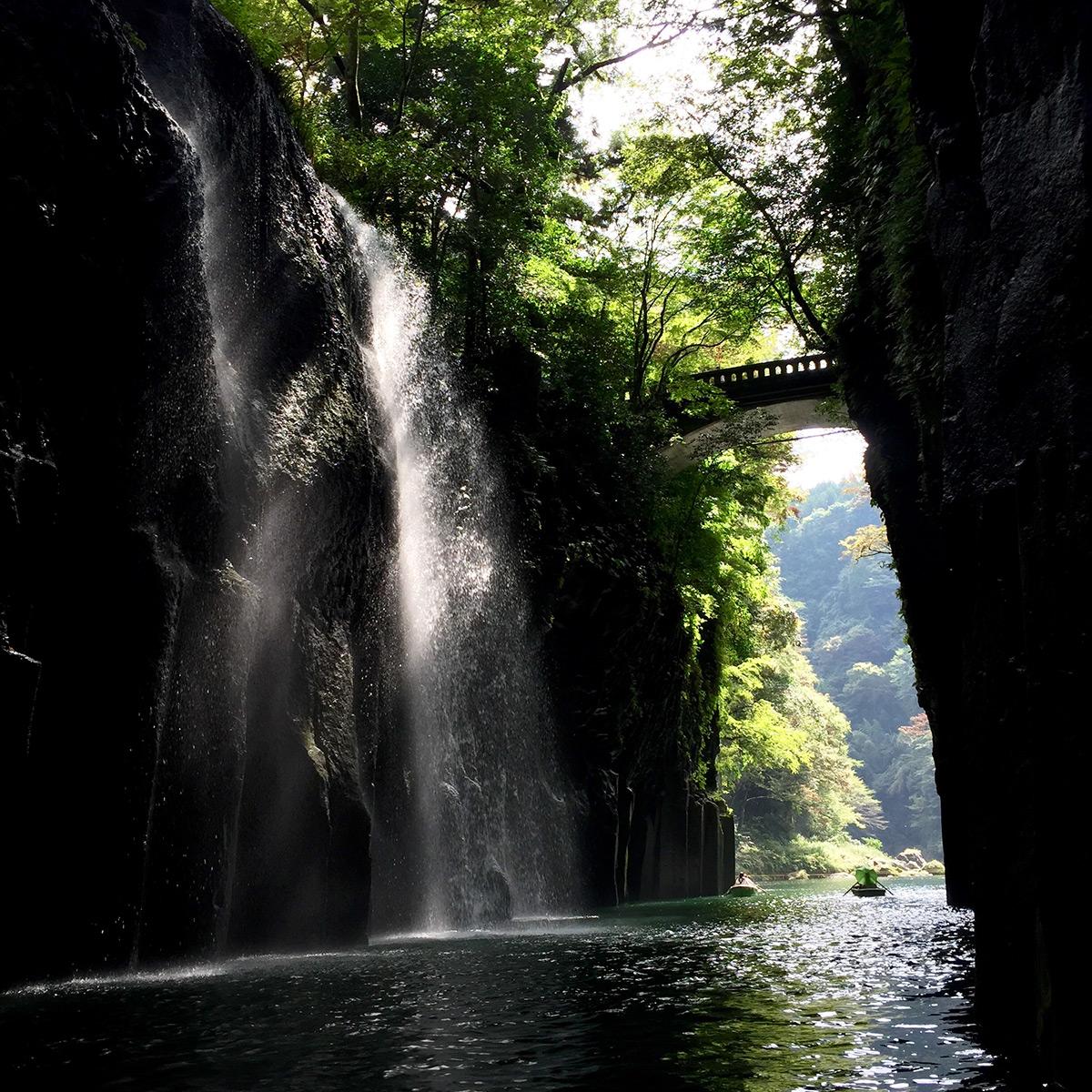 Снимок водопада на Iphone